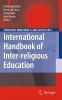 Cover image for International Handbook of Inter-religious Education