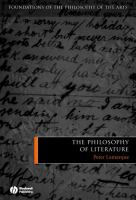 Cover image for The philosophy of literature