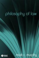 Cover image for Philosophy of law : the fundamentals