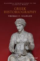 Cover image for Greek historiography