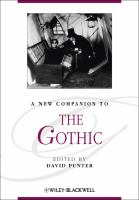 Cover image for A new companion to the gothic