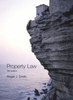 Cover image for Property law.