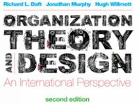 Cover image for Organization theory and design : an international perspective