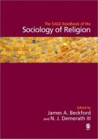 Cover image for The Sage handbook of sociology of religion