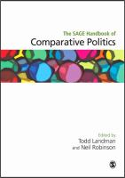 Cover image for The SAGE handbook of comparative politics