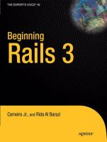 Cover image for Beginning Rails 3