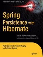 Cover image for Spring Persistence with Hibernate
