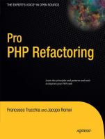 Cover image for Pro PHP Refactoring