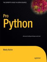 Cover image for Pro Python