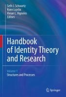 Cover image for Handbook of Identity Theory and Research