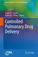 Cover image for Controlled Pulmonary Drug Delivery