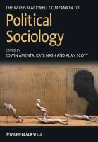 Cover image for The Wiley-Blackwell companion to political sociology