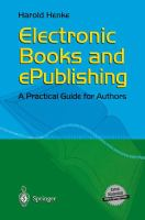 Cover image for Electronic Books and ePublishing A Practical Guide for Authors