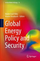 Cover image for Global Energy Policy and Security