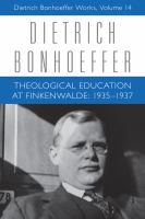 Cover image for Theological education at Finkenwalde, 1935-1937