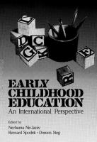 Cover image for Early Childhood Education An International Perspective