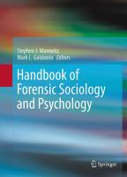 Cover image for Handbook of Forensic Sociology and Psychology