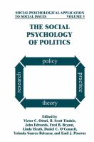 Cover image for The Social Psychology of Politics