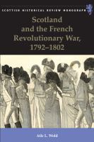 Cover image for Scotland and the French Revolutionary War, 1792-1802