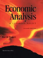Cover image for Economic analysis & Canadian policy