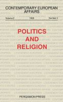 Cover image for Politics and religion