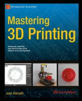 Cover image for Mastering 3D Printing