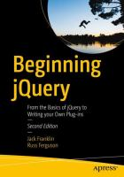 Cover image for Beginning jQuery From the Basics of jQuery to Writing your Own Plug-ins