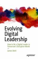 Cover image for Evolving Digital Leadership How to Be a Digital Leader in Tomorrow's Disruptive World