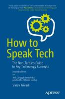 Cover image for How to Speak Tech The Non-Techie's Guide to Key Technology Concepts
