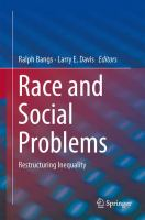 Cover image for Race and Social Problems Restructuring Inequality