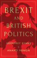 Cover image for Brexit and British politics