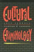 Cover image for Cultural criminology