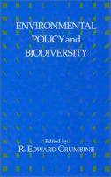 Cover image for Environmental policy and biodiversity