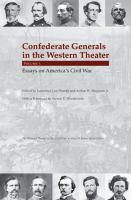 Cover image for Confederate generals in the western theater