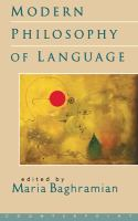 Cover image for Modern philosophy of language
