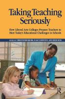 Cover image for Taking teaching seriously