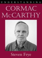 Cover image for Understanding Cormac McCarthy