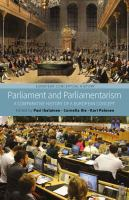 Cover image for Parliaments and parliamentarism : a comparative history of a European concept