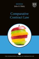 Cover image for Comparative contract law