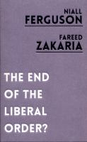 Cover image for The end of the liberal order?