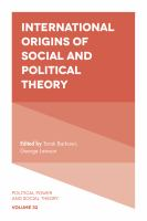 Cover image for International origins of social and political theory