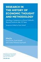 Cover image for Research in the history of economic thought and methodology : including a symposium on Bruce Caldwell's Beyond Positivism after 35 years