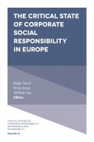 Cover image for The critical state of corporate social responsibility in Europe