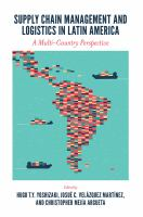 Cover image for Supply chain management and logistics in Latin America : a multi-country perspective