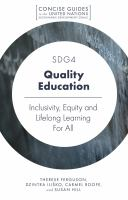 Cover image for SDG4  quality education : inclusivity, equity and lifelong learning for all