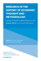 Cover image for Research in the history of economic thought and methodology. Vol. 37C, including a symposium on Robert Heilbroner at 100