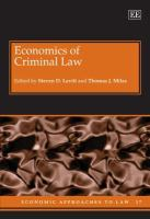 Cover image for Economics of criminal law
