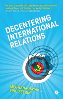 Cover image for Decentering international relations