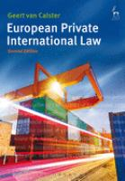 Cover image for European private international law