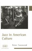 Cover image for Jazz in American culture